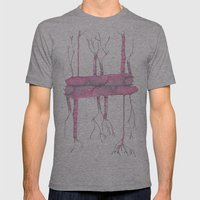 Pink trees Mens Fitted Tee Athletic Grey SMALL