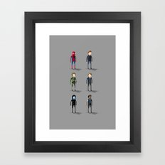 Amazing Spider-Man Pixel Art: Alter Egos Framed Art Print