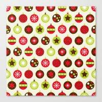 Christmas Baubles Canvas Print