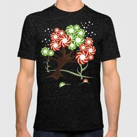 Magic Candy Tree - V2 Mens Fitted Tee Tri-Black SMALL