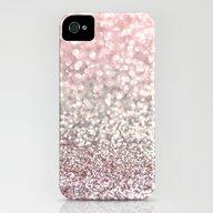 Girly Pink Snowfall iPhone (4, 4s) Slim Case