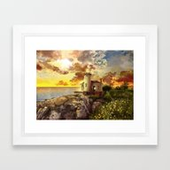 Lighthouse Landscape Sky Framed Art Print