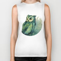 Green Owl Biker Tank