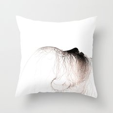 The head of love Throw Pillow