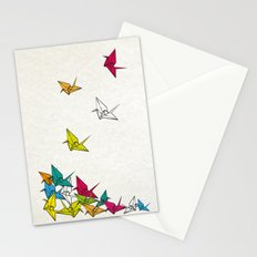 cranes origami Stationery Cards