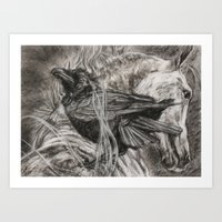 Wild Black And White Art Print