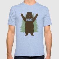 Bear Hug? Mens Fitted Tee Tri-Blue SMALL