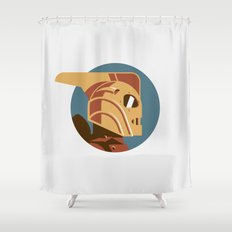 Headgear: Rocketeer Shower Curtain
