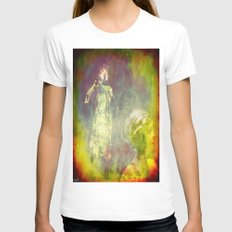 Observe by the ghost Womens Fitted Tee White SMALL