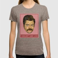 I Couldn't Care Less Womens Fitted Tee Tri-Coffee SMALL