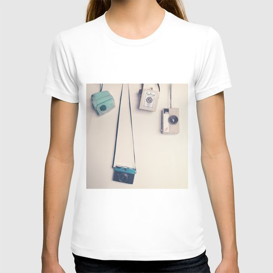 Hanging Retro Cameras  T-shirt