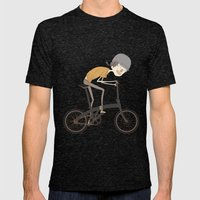 riding Mens Fitted Tee Tri-Black SMALL