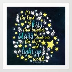 Shatter Me - Stars quote design Art Print