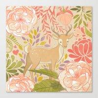Garden Deer Canvas Print