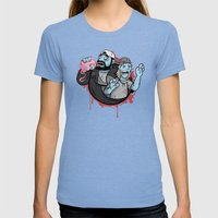 Bong Of The Dead Womens Fitted Tee Tri-Blue SMALL
