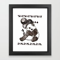European Panda Framed Art Print