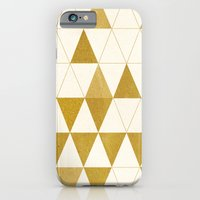 gold iPhone & iPod Cases featuring My Favorite Shape by Krissy Diggs