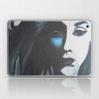 Women In Blue Laptop & iPad Skin