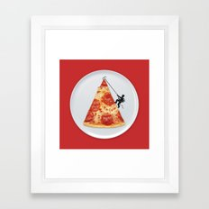 Pizza Topping Framed Art Print