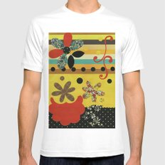 Collage Mens Fitted Tee White SMALL