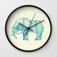 Paper Elephant Wall Clock