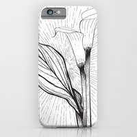 Lily in Black and White iPhone 6 Slim Case