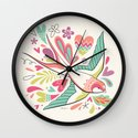 spring swallow Wall Clock