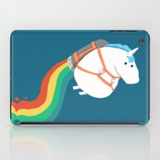 Fat Unicorn on Rainbow Jetpack iPad Case