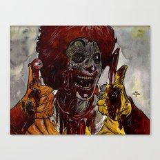 Mac Donalds Zombie Canvas Print