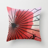 RED CHINA Throw Pillow