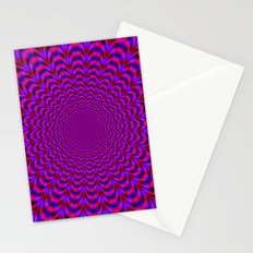 Pulse in Red and Blue Stationery Cards