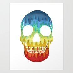 Paper Skull Art Print