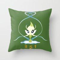 #251 Celebi ~ NATURE Throw Pillow