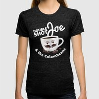Doubleshot Joe Womens Fitted Tee Tri-Black SMALL