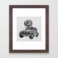 In Which A Snail Accosts… Framed Art Print