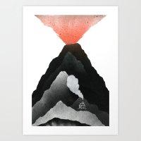 Man & Nature - The Vulca… Art Print