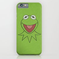 iPhone Cases featuring Kermit - Minimalist Poster 01 by Misery