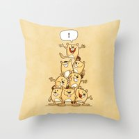 Shout It Out! Throw Pillow