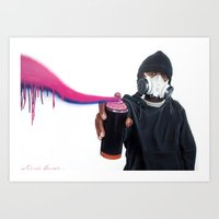 graffiti Art Prints featuring Graffiti by Fahrudin