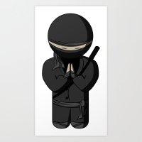 Ninja Bow Art Print