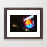 Boston Rain Framed Art Print