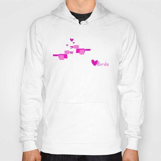 Love Birds-Pink Hoody