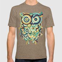 Hoot Mens Fitted Tee Tri-Coffee SMALL