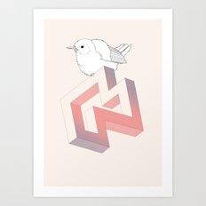 Birds and Impossible Objects III Art Print