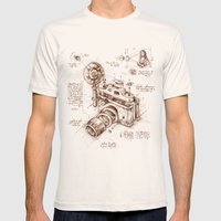 Moment Catcher Mens Fitted Tee Natural SMALL