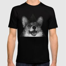 Sausage Fox Mens Fitted Tee Black SMALL