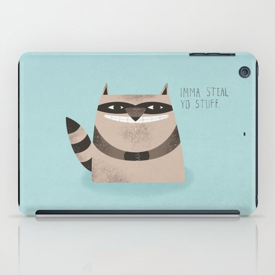 Sneaky Raccoon iPad Case
