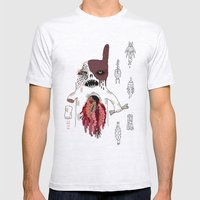 Zombie Dog Mens Fitted Tee Ash Grey SMALL