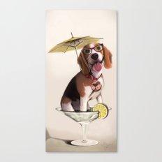 Tessi the party Beagle Canvas Print