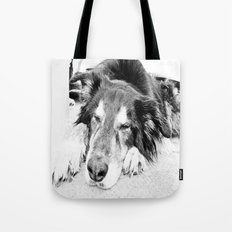 Tired Old Dog Tote Bag